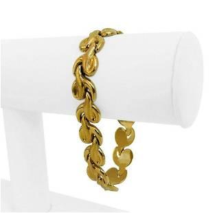 18k Yellow Gold 18.9g Ladies 12mm Fancy Link Bracelet