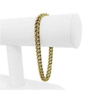 14k Yellow Gold 11.9g Hollow 6.5mm Cuban Curb Link
