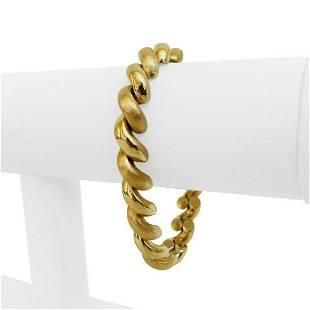 14k Yellow Gold 23.8g Ladies 9mm Macaroni San Marco