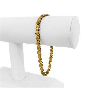 14k Yellow Gold 10g Diamond Cut 5mm Fancy Circle Link