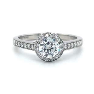 Tiffany & Co. Platinum Embrace Diamond Halo Engagement