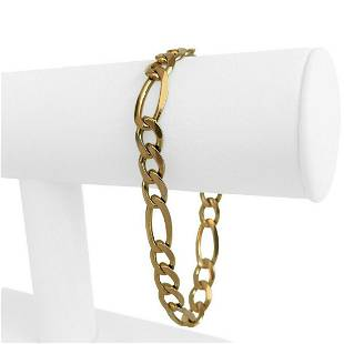 14k Yellow Gold 21g Semi Solid 8.5mm Figaro Link