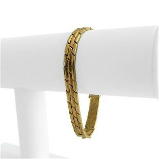 18k Yellow Gold 32.3g Heavy Ladies 7.5mm Panther Link