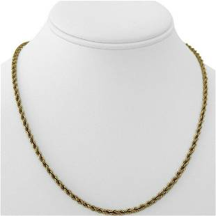 14k Yellow Gold 15.6g Solid Ladies 3mm Rope Chain