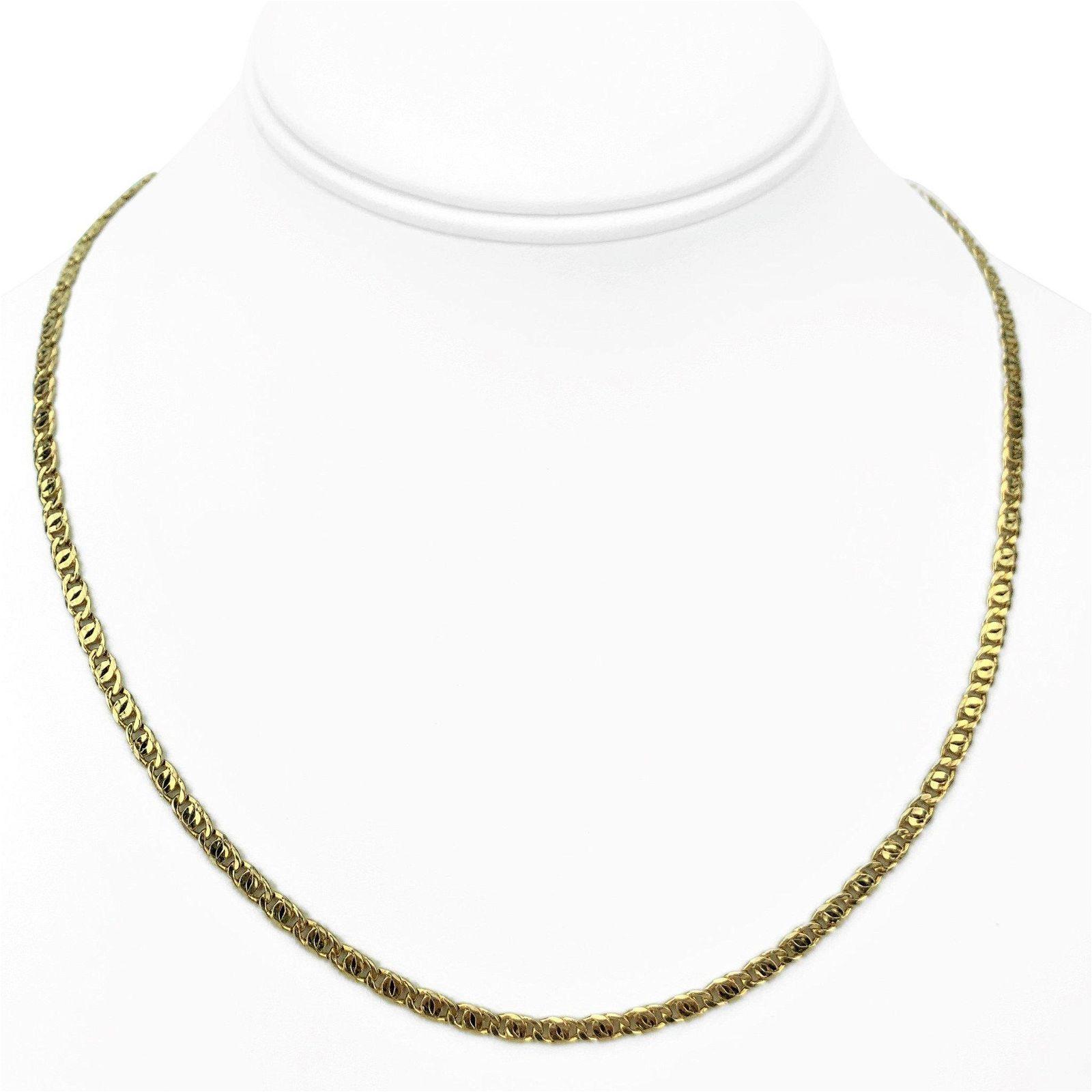 14k Yellow Gold 3.5mm Light Hollow Figure 8 Link Chain