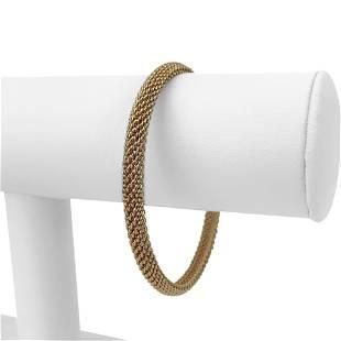 Tiffany & Co. 18k Rose Gold 20.7g Mesh Bangle Bracelet