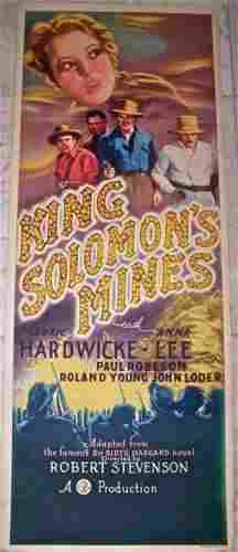 KING SOLOMON'S MINES '37 INSERT PAUL ROBESON R-A-R-E!