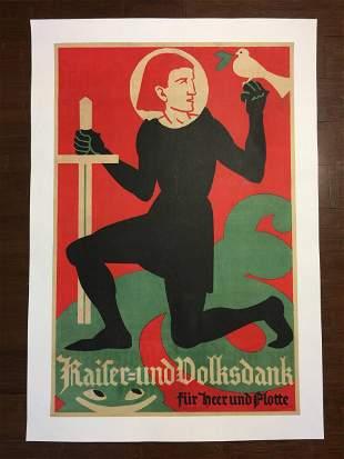 Kaiser-Und Volksdank - Art by Fritz Hellmut (1930's)