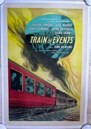 TRAIN OF EVENTS '49 LB ENGLISH 1 SH POSTER- RAILROAD