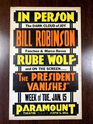 "Mr. Bojangles - Bill Robinson (1935) 14"" x 22"" US Live"