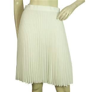 Neil Barrett White Pleated Polyester Just Above Knee