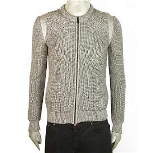 Balenciaga Gray w. Metallic Shine Wool Blend Knit