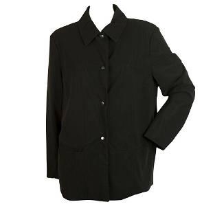 Laurel Jeans Black Mesh Lined Fabric Button Front