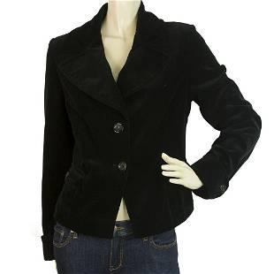 Rene Lezard Black Two Buttons Style Corduroy Jacket