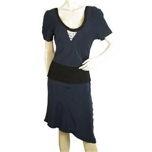 Vena Cava Blue Color w. Black Trim Asymmetrical Length