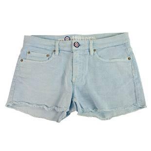 Modfitters Light Blue Cotton Denim Shorts Summer