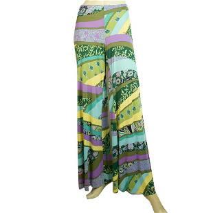 ETRO Multicolor Pattern Flare Wide Leg Viscose Summer