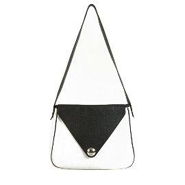 Hermes White & Black trim Pebbled Leather Large