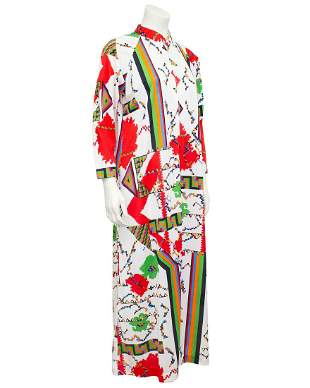 Saks Fifth Ave. Geometric Printed Hostess Robe