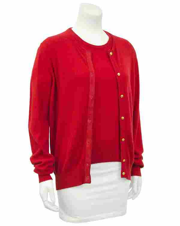 Gucci Red Cashmere Twin Set