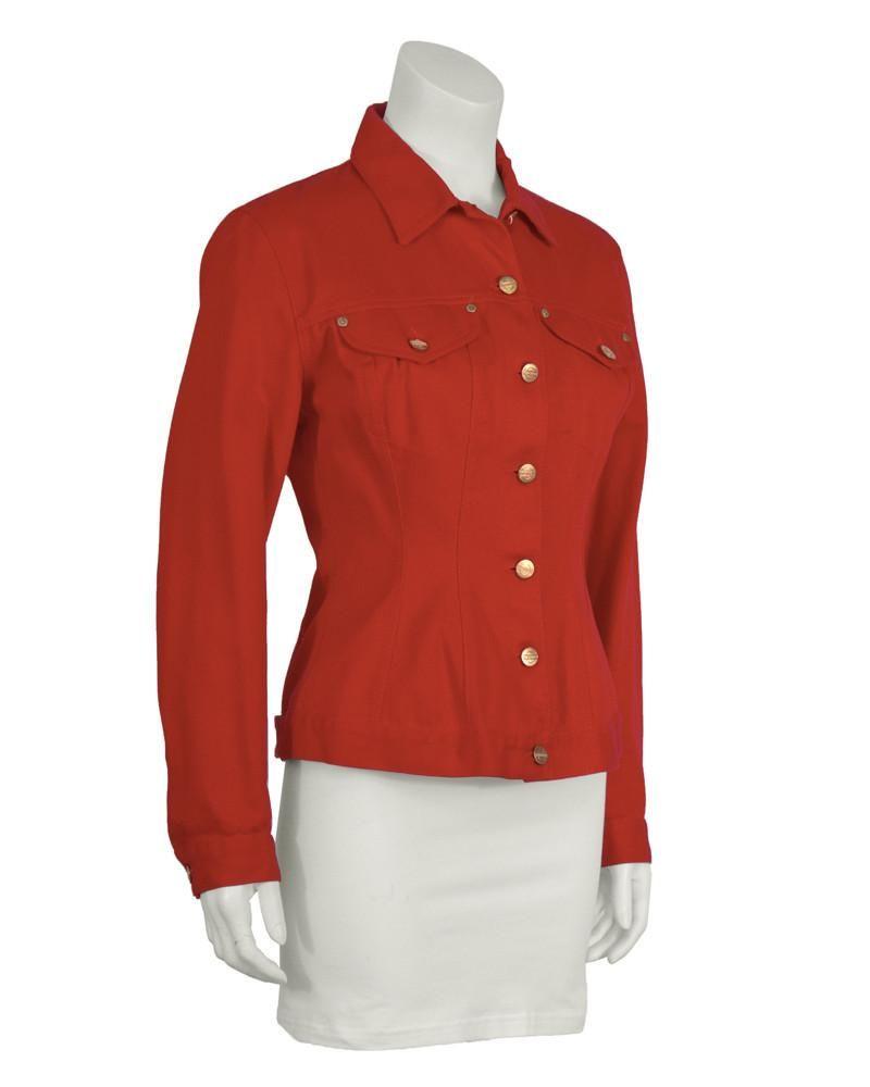 Jean Paul Gaultier Red Denim Jacket