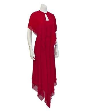 Mollie Parnis Red Gown with Caplet
