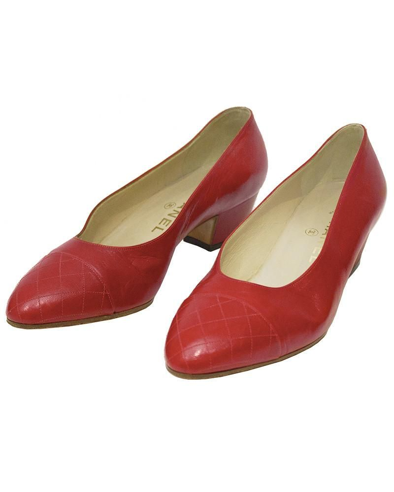 Chanel Red Lady Pumps