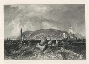 """J. M. W. Turner """"Mount Edgcumbe"""" engraving"""