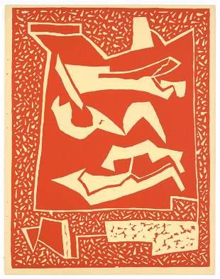 Alberto Magnelli original linocut (1938 1st edition)