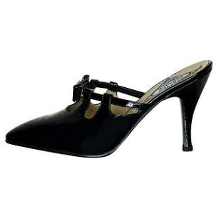 VERSACE BLACK PATENT LEATHER PUMP SHOES from ATELIER