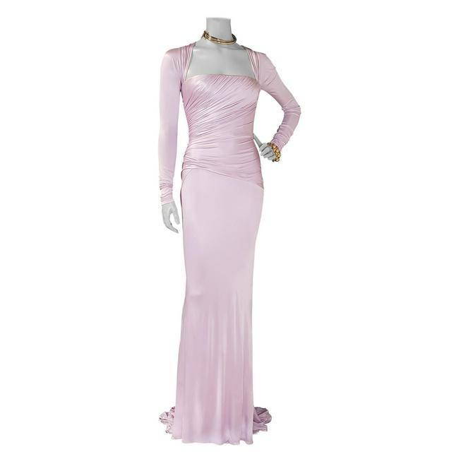 VERSACE Lilac Long-Sleeve Stretch-Jersey Gown