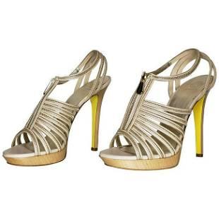 VERSACE Nude Platform Sandals