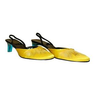S/S 1999 VINTAGE TOM FORD for GUCCI YELLOW CREPE SATIN