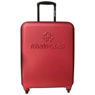 NEW ROBERTO CAVALLI FIBER SUITCASE in RED