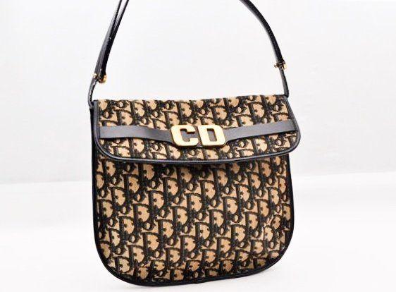 Dior Logo Trotter Shoulder Bag
