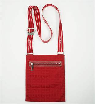 Givenchy Red Logo Flat Crossbody