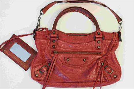 Balenciaga Classic City Bag in Red