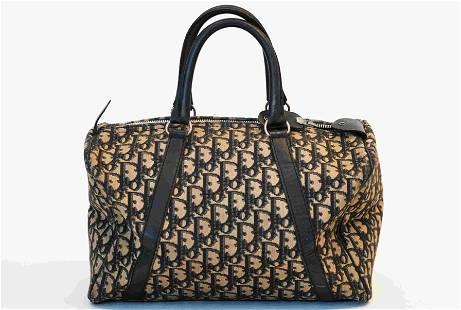 Christian Dior Navy Trotter Boston Bag