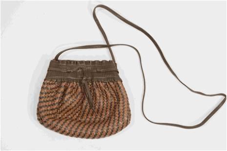 Fendi Leather Weved Crossbody