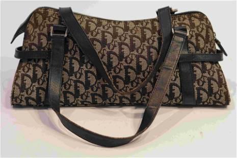 Christian Dior Denim Monogram Charms Boston Bag