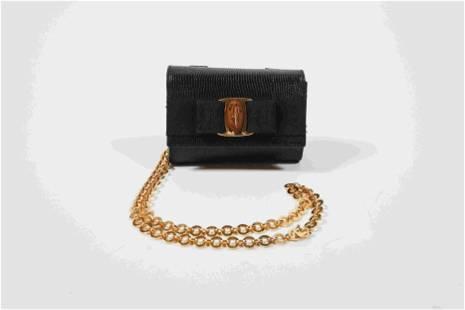Ferragamo Lizard Chain Shoulder Bag and Waist Bag