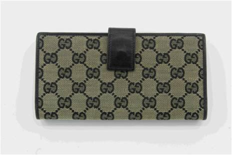Gucci Monogram Canvas Wallet