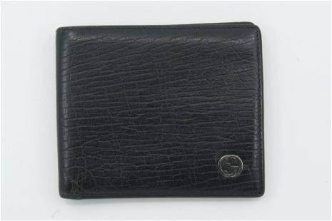Gucci Black Cognac Leather Wallet
