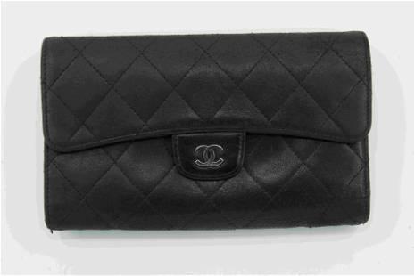 Chanel Black Lambskin Wallet