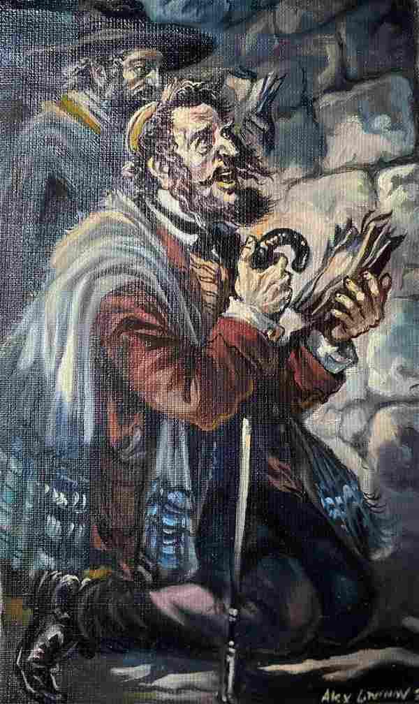 Oil painting Prayer Alexander Arkadievich Litvinov