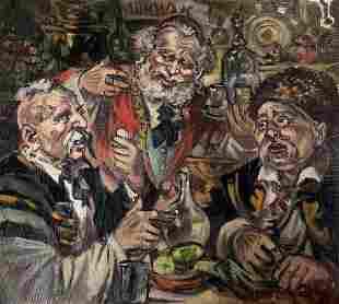 Oil painting Friendship Alexander Arkadievich Litvinov