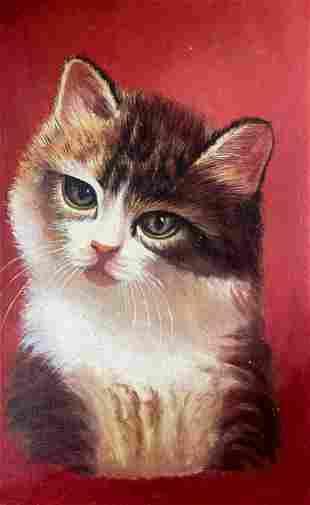 Oil painting Cat Alexander Arkadievich Litvinov