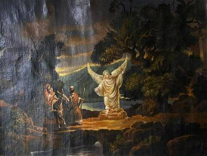 Oil painting Flight to Egypt Alexander Arkadievich