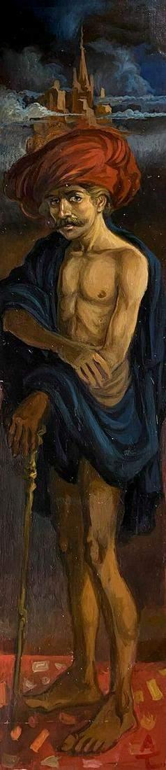 Oil painting Full-length portrait Alexander Arkadievich