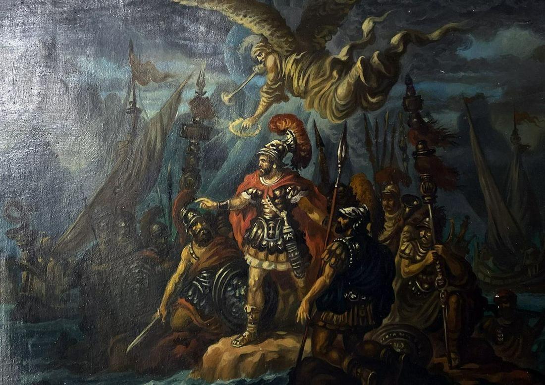 Oil painting Aeneas Alexander Arkadievich Litvinov